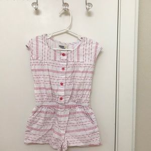 Little girls white summer romper💕